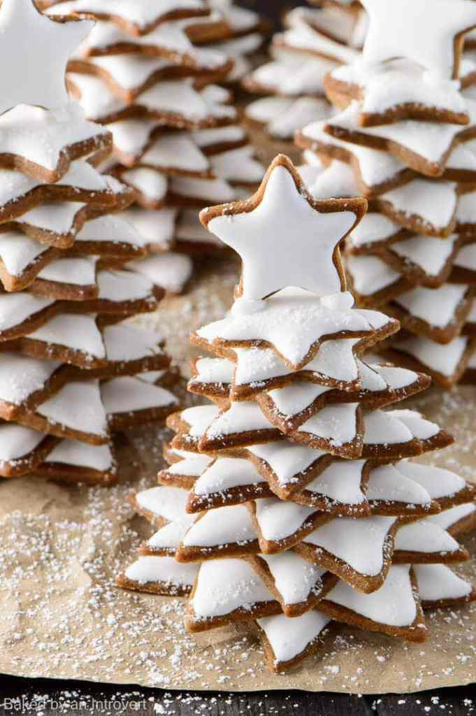 Snowy Gingerbread Christmas Trees