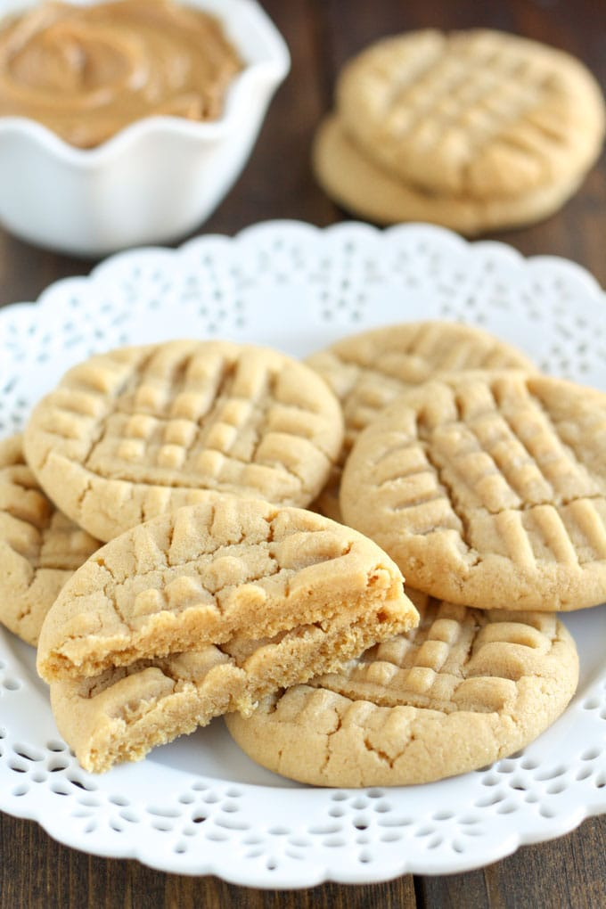 An easy recipe for a Small Batch of Peanut Butter Cookies that requires just one bowl! This recipe only makes 6-7 cookies and they're done in just 30 minutes!