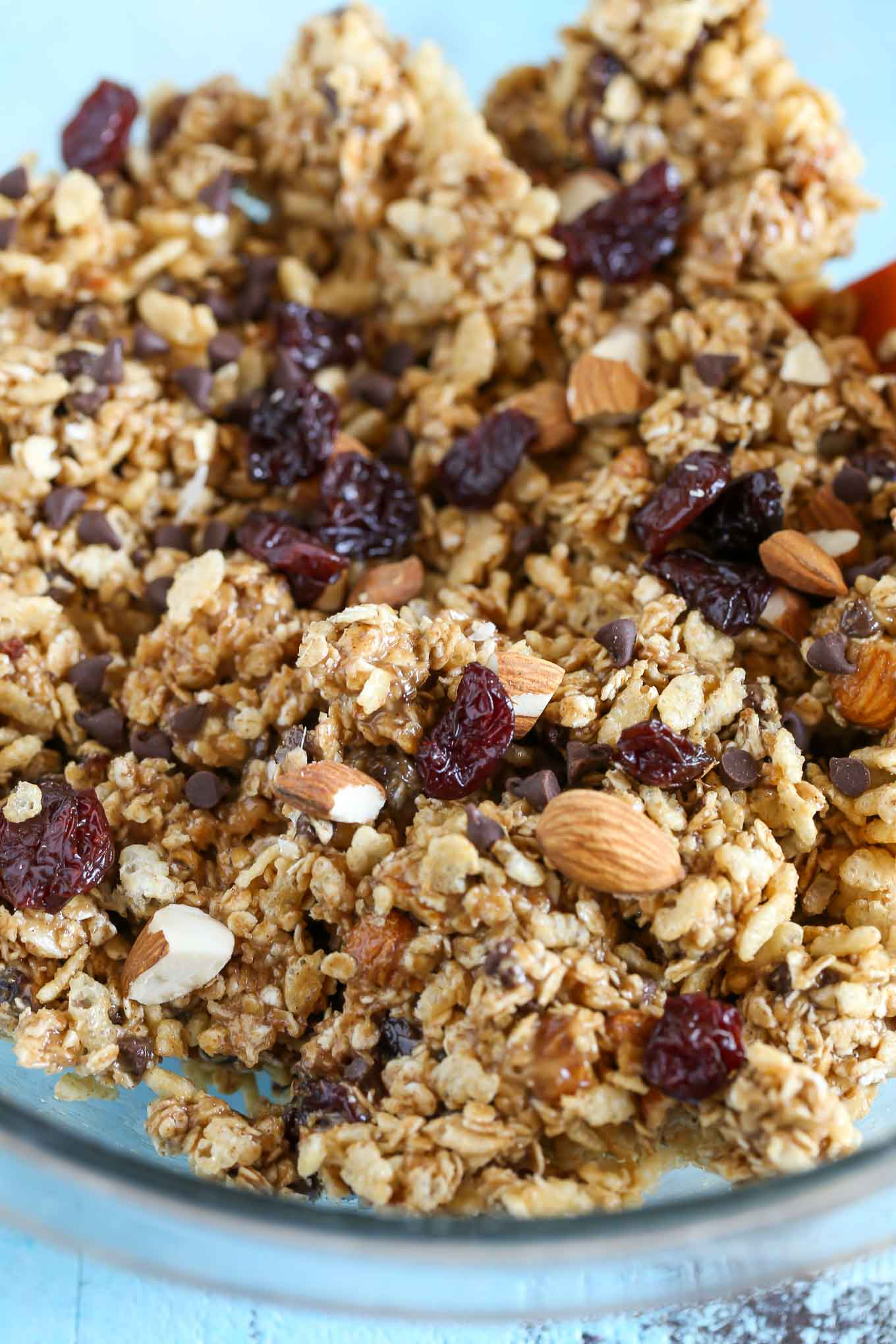 these nobake chocolate cherry almond granola bars are easy to make and perfect for