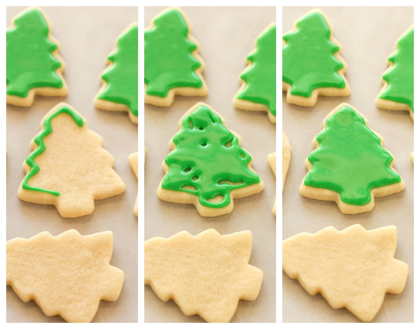 Super soft cut-out sugar cooSuper soft cut-out sugar cookies decorated with an easy icing. These Christmas Cut-Out Sugar Cookies are so fun to decorate and perfect for the holidays!kies decorated with an easy 4-ingredient icing. These Christmas Cut-Out Sugar Cookies are so fun to decorate and perfect for the holidays!