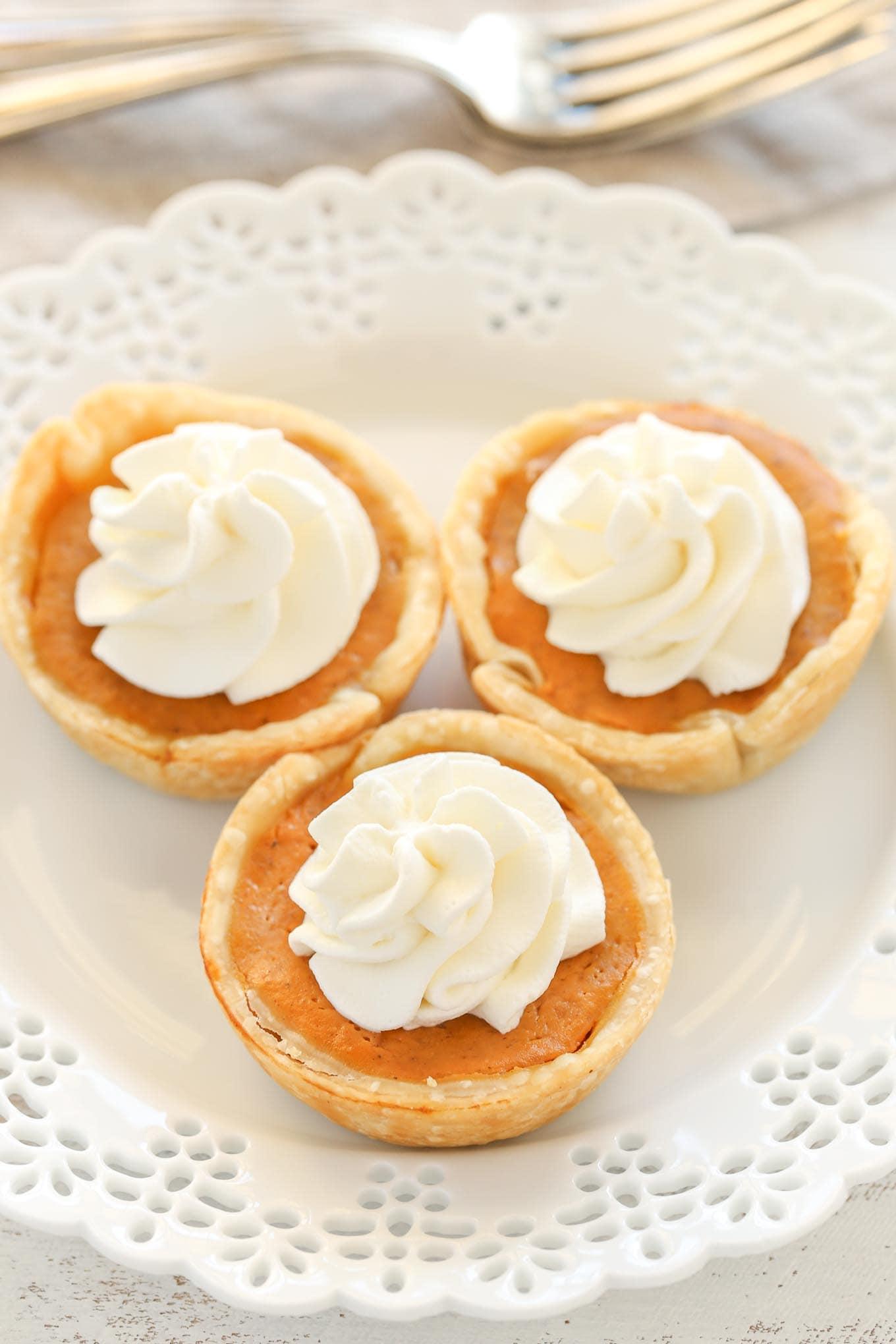 Mini Pumpkin Pies Live Well Bake Often