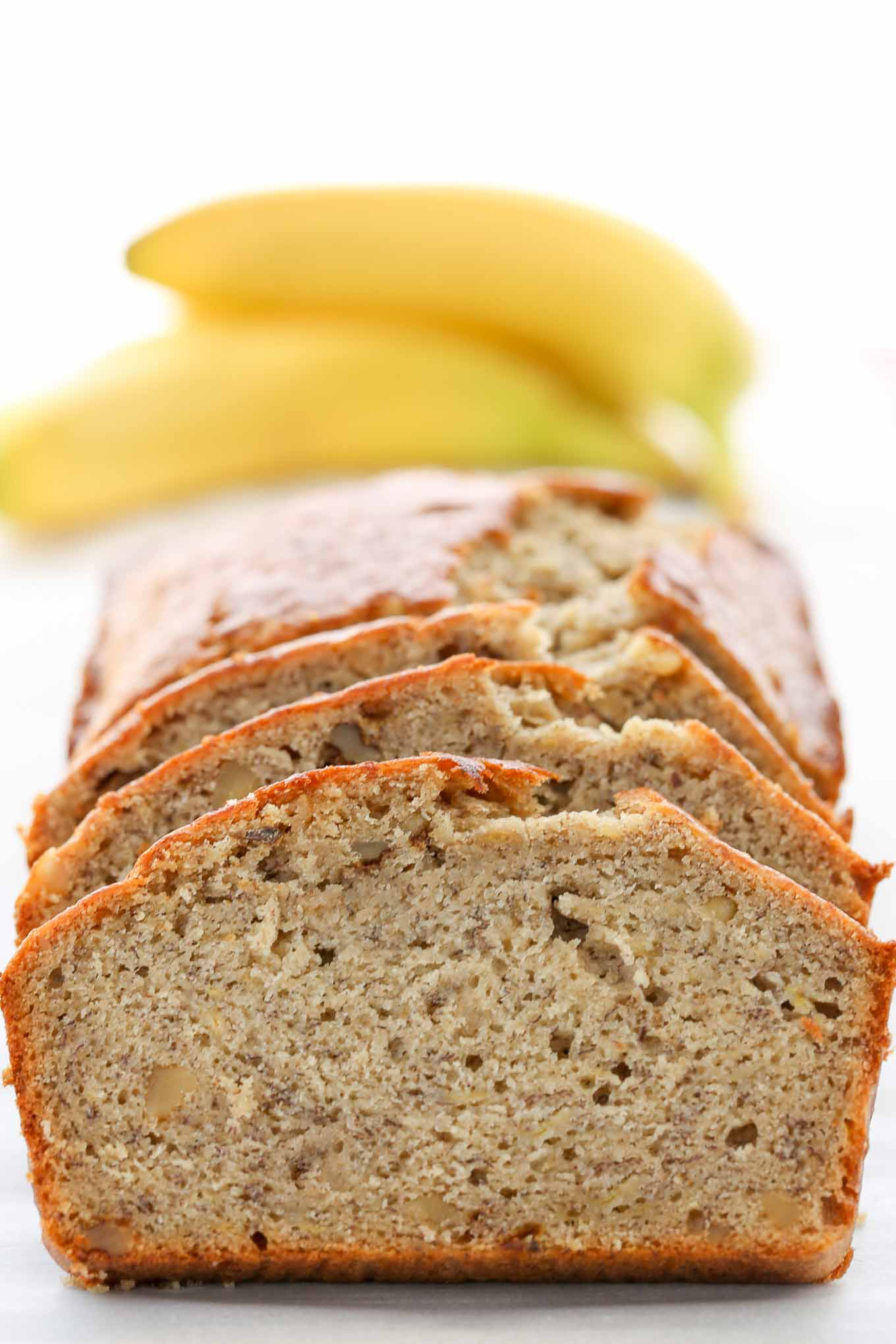 banana bread recipe classic moist sweet nut recipes plain livewellbakeoften butter walnut baking bake ingredients soda powder healthy perfectly light