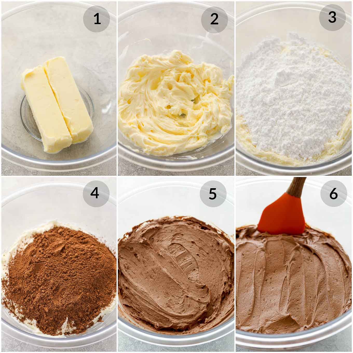 Learn how to make chocolate buttercream frosting with this easy recipe and tutorial. This is my favorite recipe for chocolate frosting, it's easy to make with just a few simple ingredients, and pipes perfectly too. Perfect for cakes, cupcakes, and so much more!