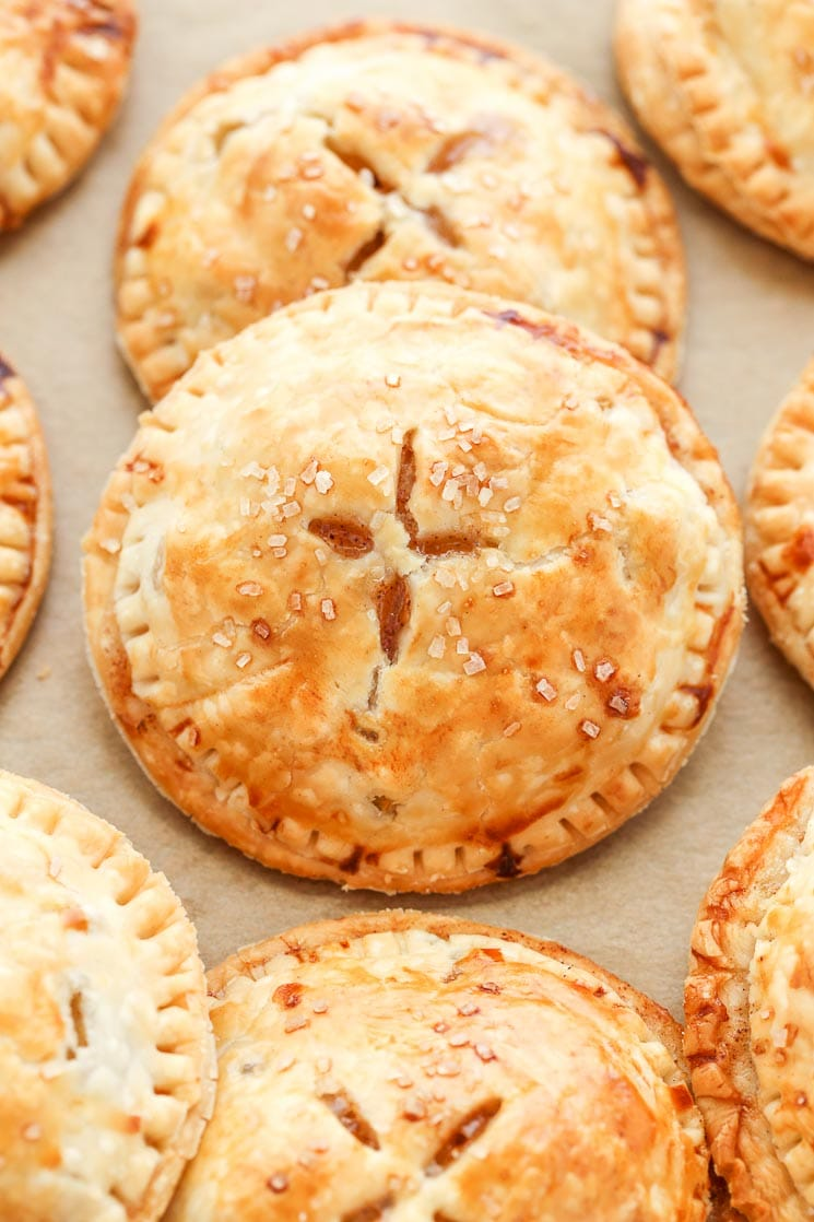These Apple Hand Pies feature a sweet apple pie filling inside a buttery, flaky pie crust. So easy to make and perfect for fall!