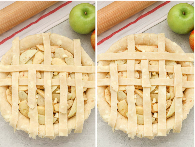 Learn how to make a lattice pie crust with this easy step-by-step tutorial. This simple technique is a beautiful decorative touch for almost any pie!