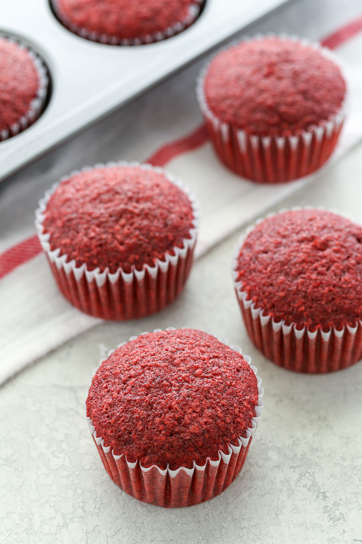 These Red Velvet Cupcakes are soft, light, moist, and topped with an easy cream cheese frosting. Perfect for any occasion!