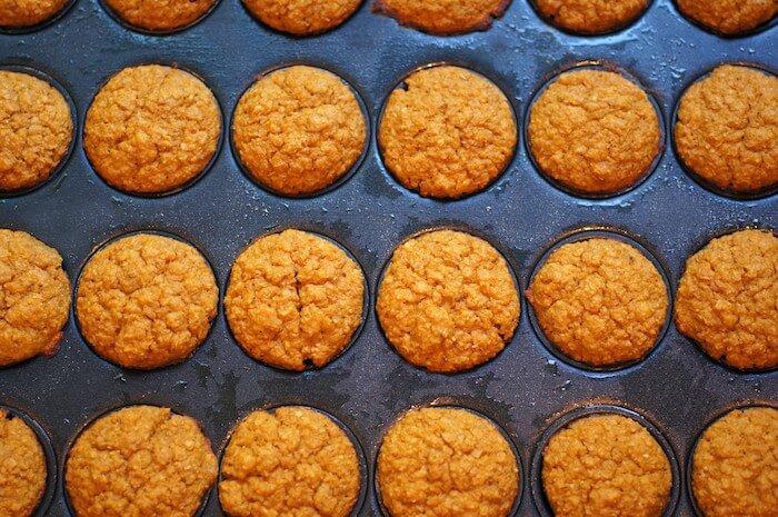 Pumpkin Oat Bran Mini Muffins