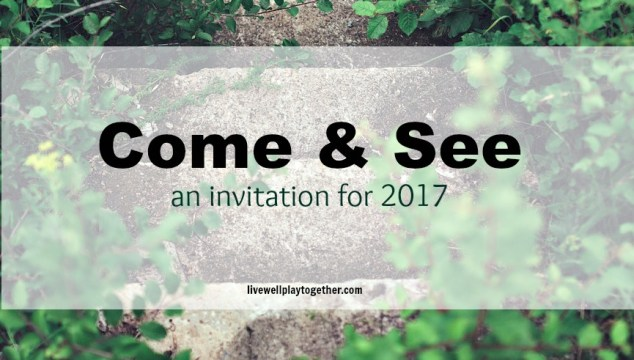 Come & See: an invitation for 2017