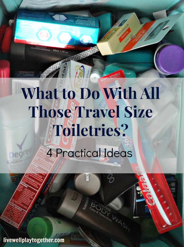 What to do with all those travel size toiletries under the sink? Here are 4 practical ideas to help you make the most of them!