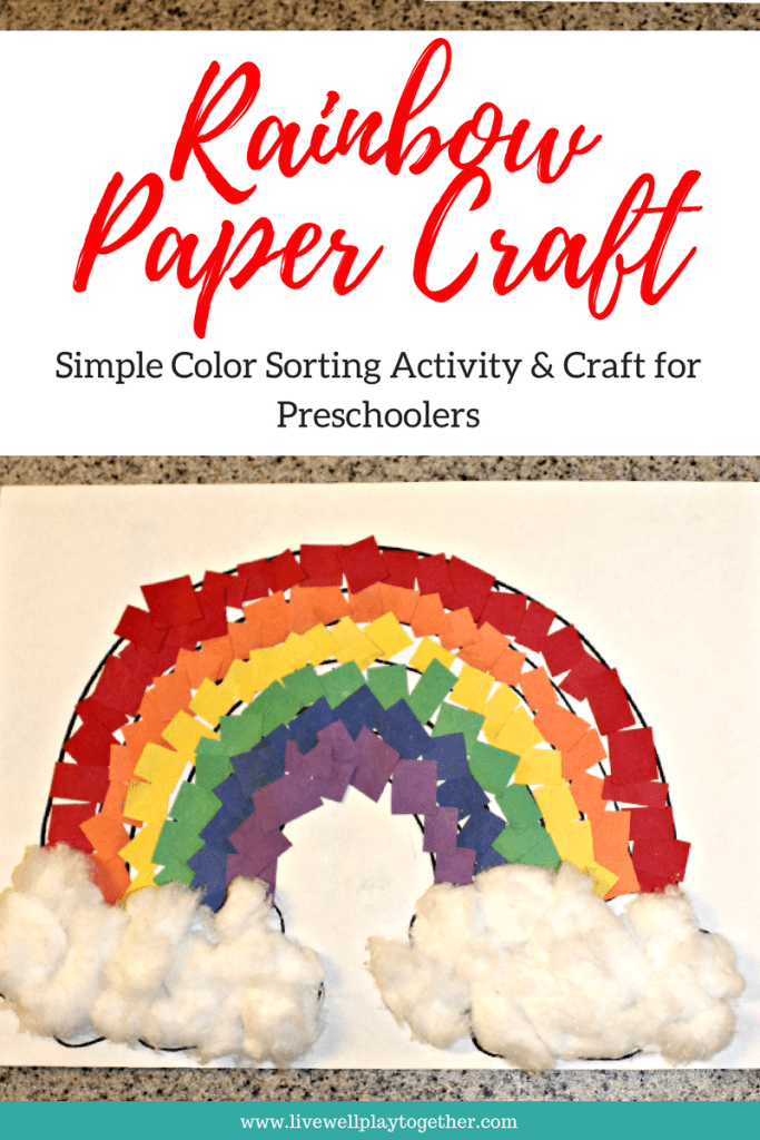 Rainbow Paper Craft For Kids Live Well Play Together