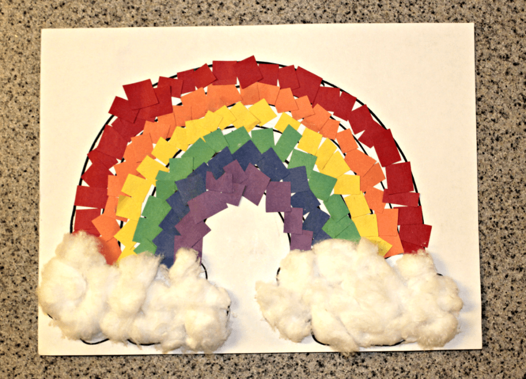 Rainbow Paper Craft For Kids Easy Idea Toddlers And Preschool Crafts