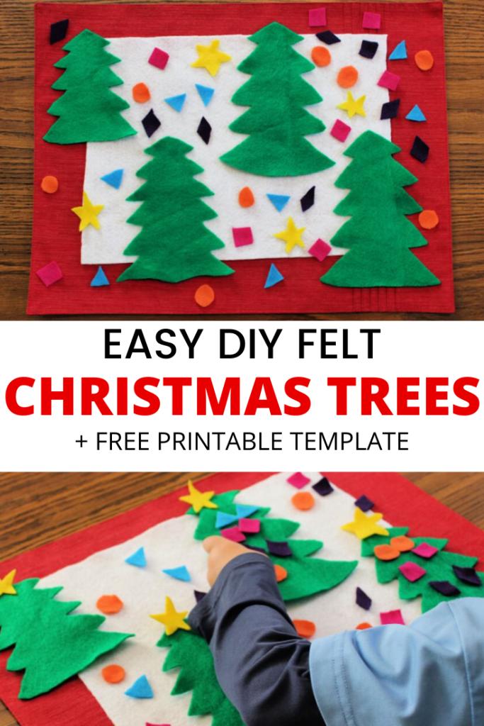 Mini Felt Christmas Tree Busy Bag For Toddlers