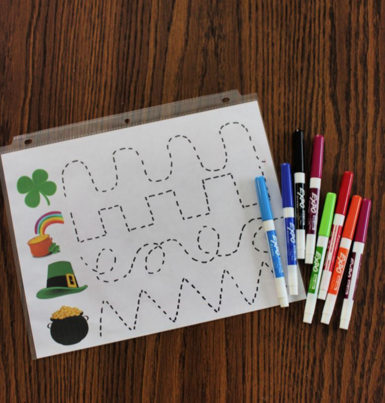 St. Patrick's Day Tracing Activity: Printable Pre-Writing Worksheet - Live  Well Play Together
