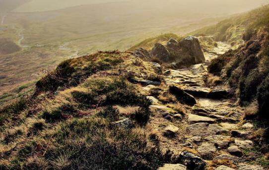 Wainstones path