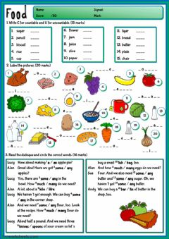 The Food Interactive Worksheets