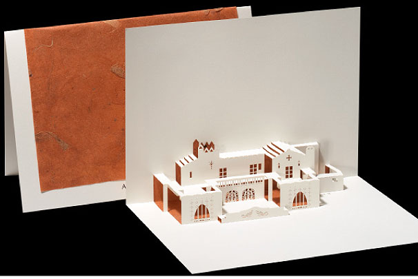 Adamson House Origami Architecture Pop Up Cards By Live