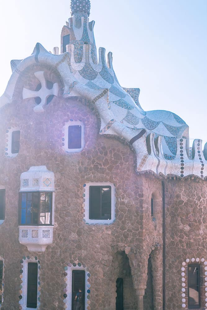 barcelona park guell - gingerbread house