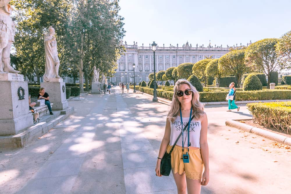 madrid - royal palace gardens