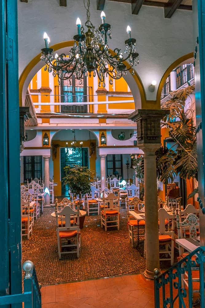 seville - barrio santo cruz restaurant