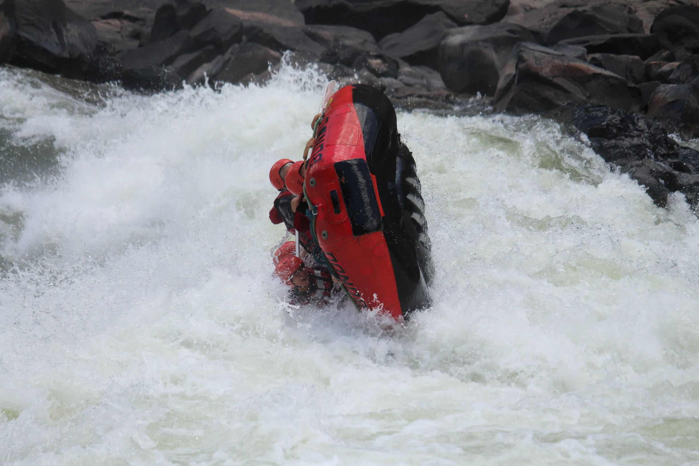 The rapid in which we flipped our boat