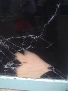 Vampires fix broken window