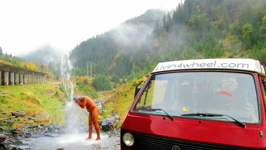 shower vanlife