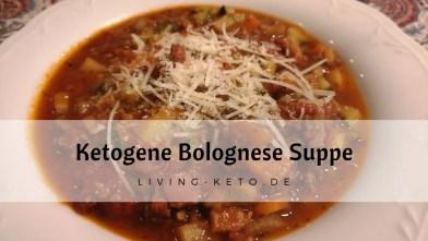 Ketogene Bolognese-Suppe