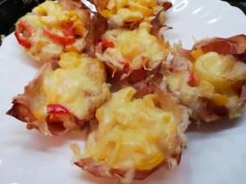 Paprika Salami Käse Muffins