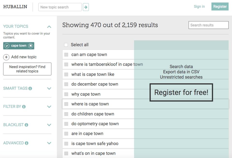 Free keyword research tools.
