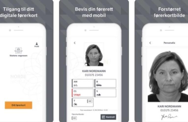 أصبح الأن متاح في النرويج برنامج رخصة القيادة أو الشهادة على الجوال بدل من أن تحملها معك
