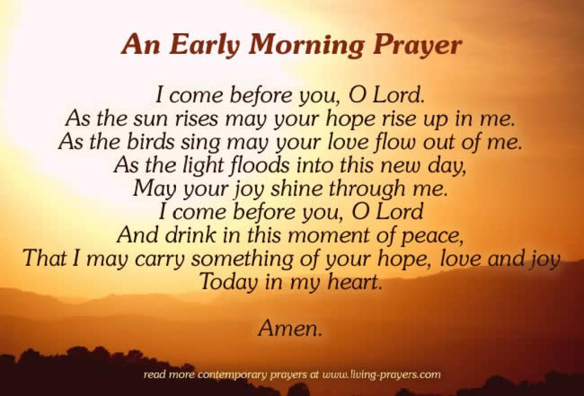 Short Sunday Morning Prayer to God
