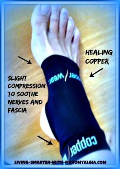 copper wear compression remedy for fibro foot pain