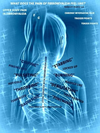 description of upper back fibro pain