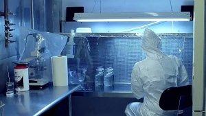 Lab Technician hard at work!