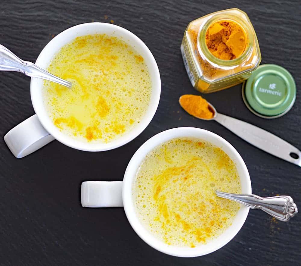 Vegan Golden Milk (Hot or Iced) Overhead