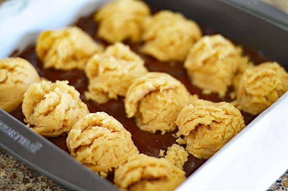 Vegan Peanut Butter Cookie Brownies DOUGH
