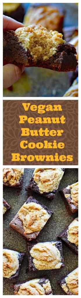 Vegan Peanut Butter Cookie Brownies LONG PIN