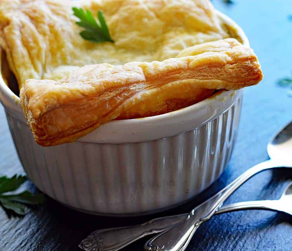 Vegan Pot Pie with Puff Pastry Crust