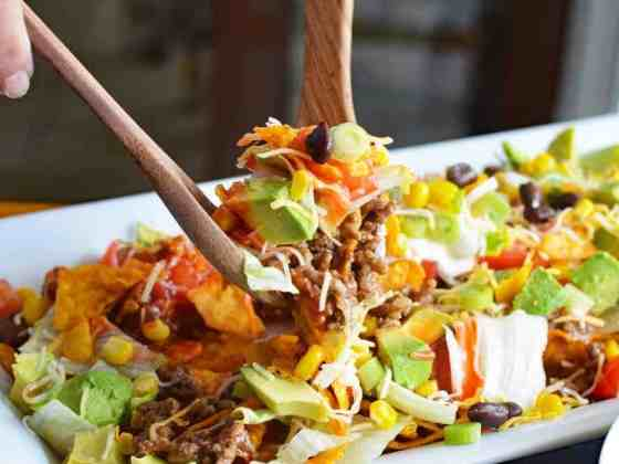 Vegan Dorito Taco Salad Recipe with Catalina Dressing