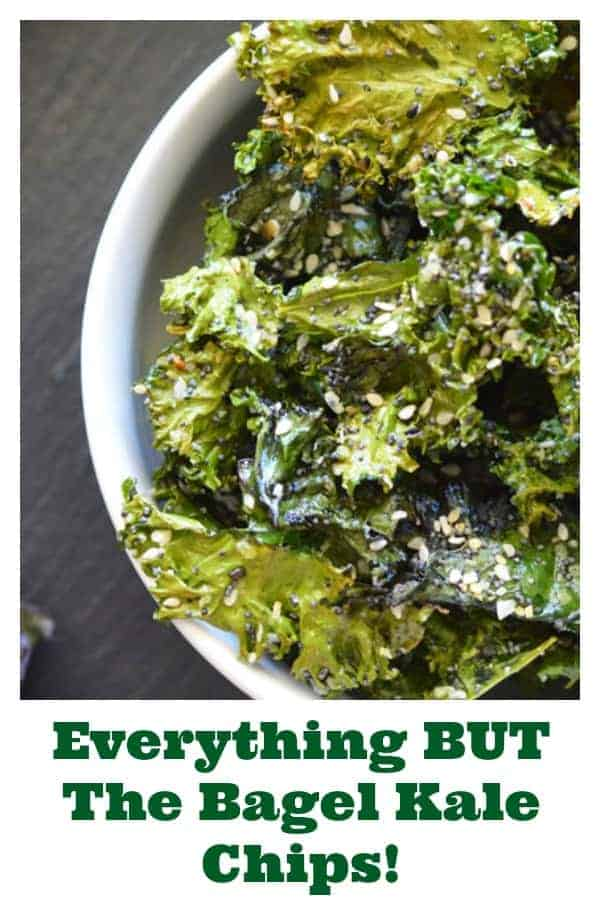 Pinterest PIN for Everything But The Bagel Kale Chips