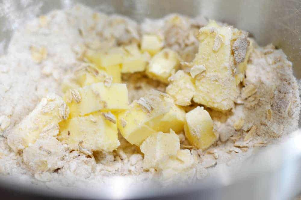 Butter Oatmeal Flour Crumble Topping