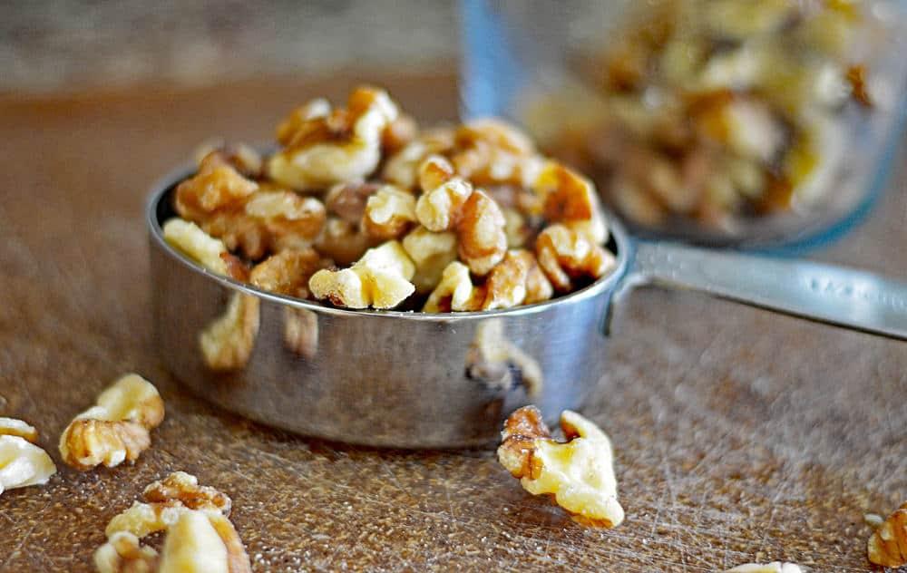 Chopped Walnuts for the Zucchini Bread Recipe