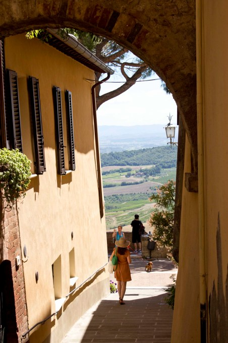 Walkway to a vista point in Montepulciano