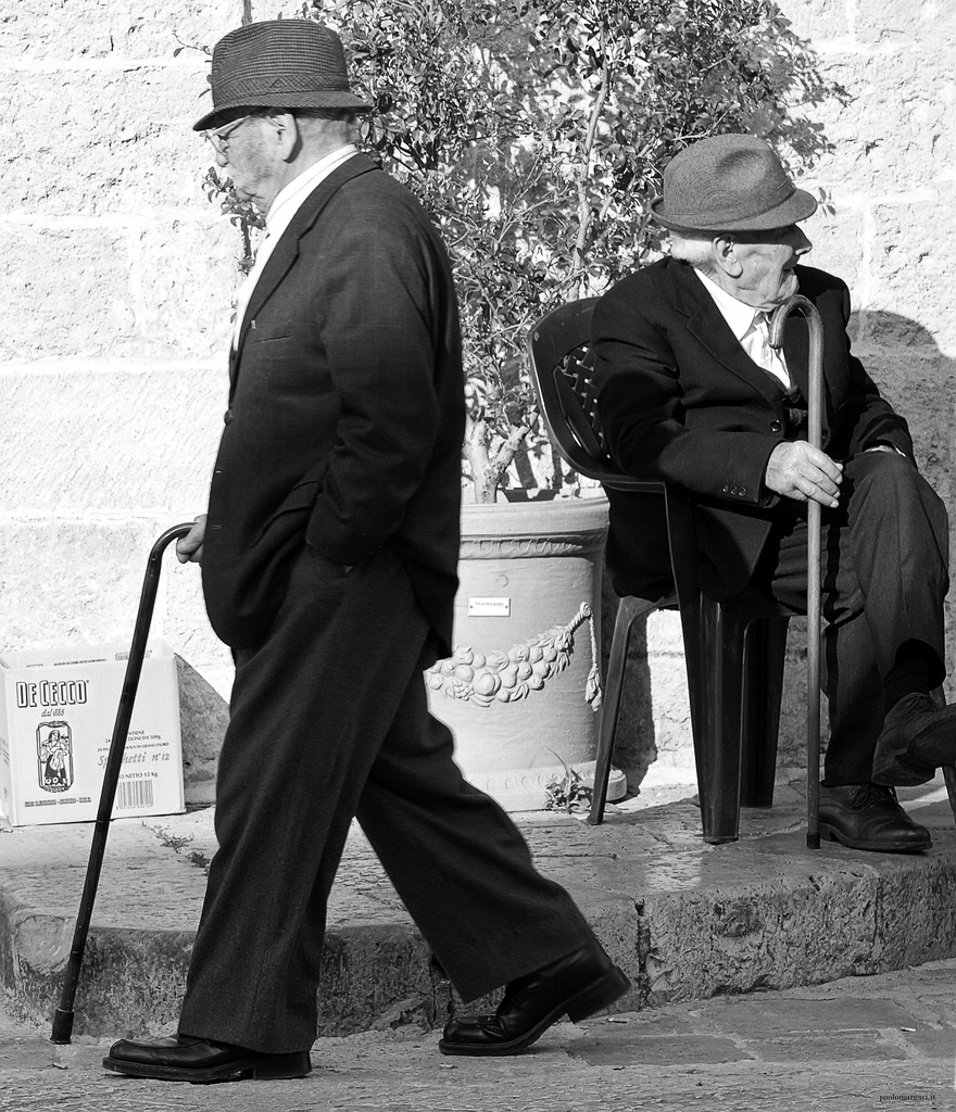 Old Men in Specchia by Paolo Margari