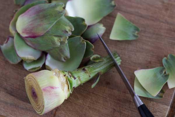 how to prepare artichokes-5
