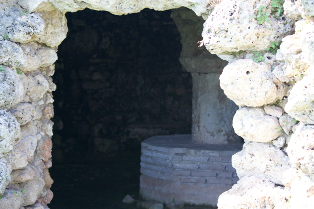 The cave at the bottom of the house