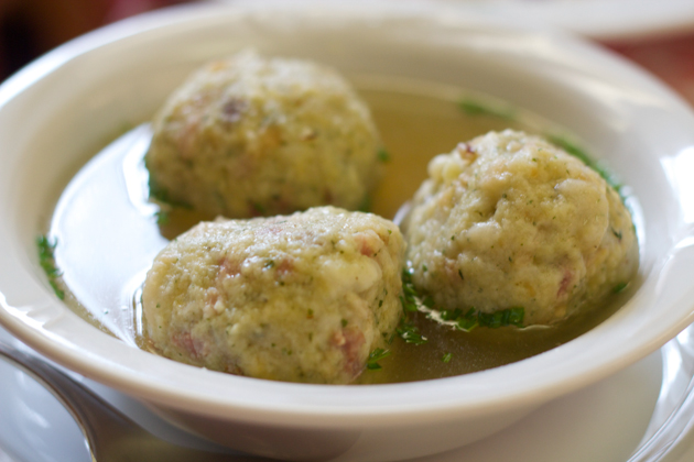 Canederli in brodo (bread dumplings in broth)