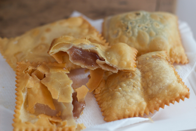 Fritters filled with chestnut cream