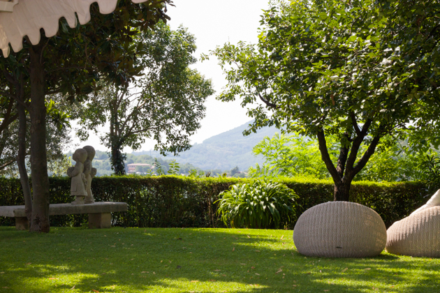 A nice place to sit for an aperitivo at La Montanella