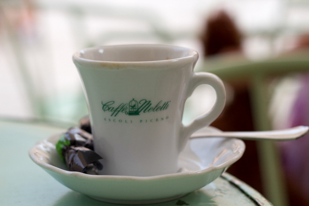 Sit and enjoy a caffe on the square